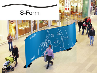 "Bannerdisplay-Wand ""Stage"" (Messewaende)"